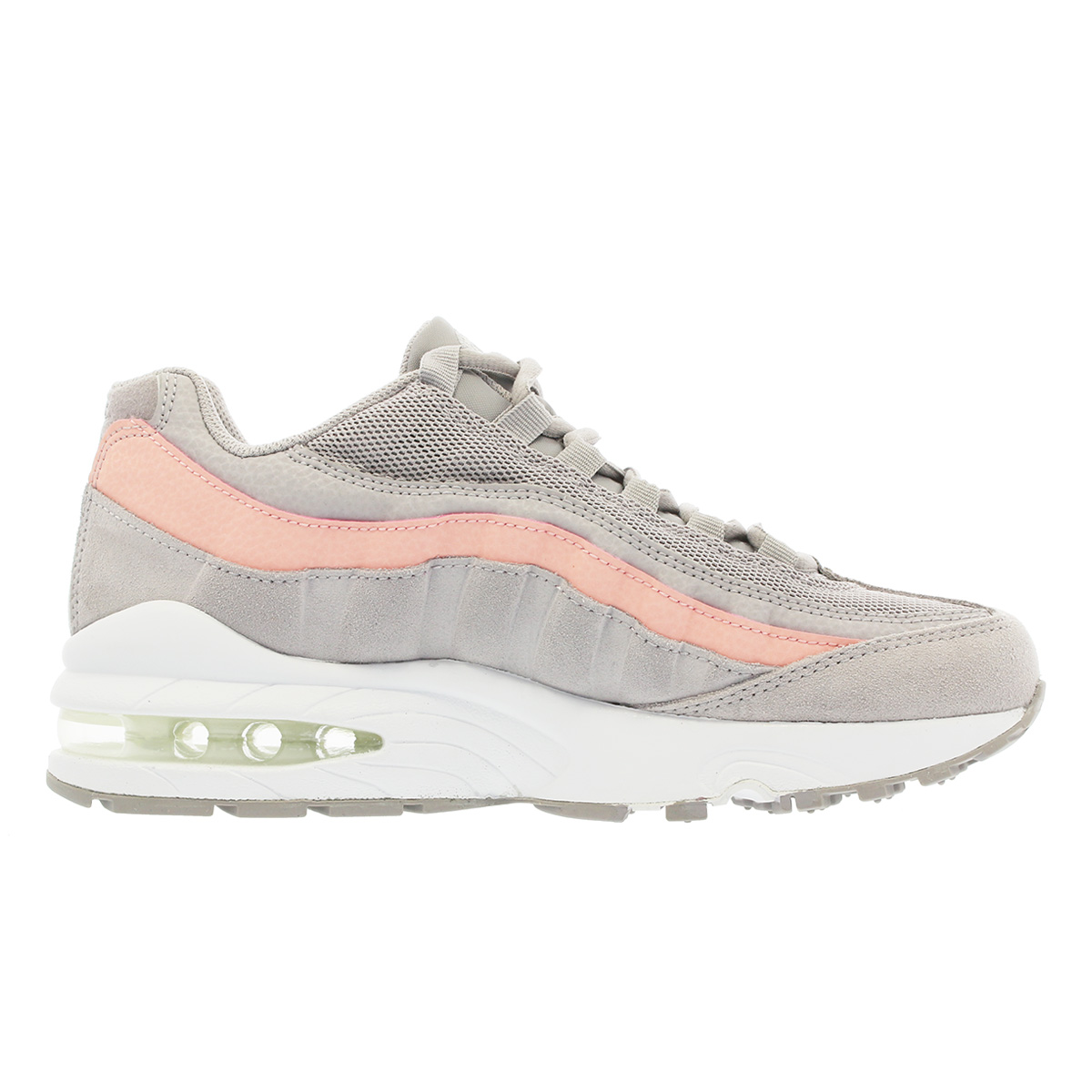 new concept 995f3 0932c NIKE AIR MAX 95 LE GS Kie Ney AMAX 95 leather GS ATOMSPHERE GREY BLEACHED  CORAL 310830-011