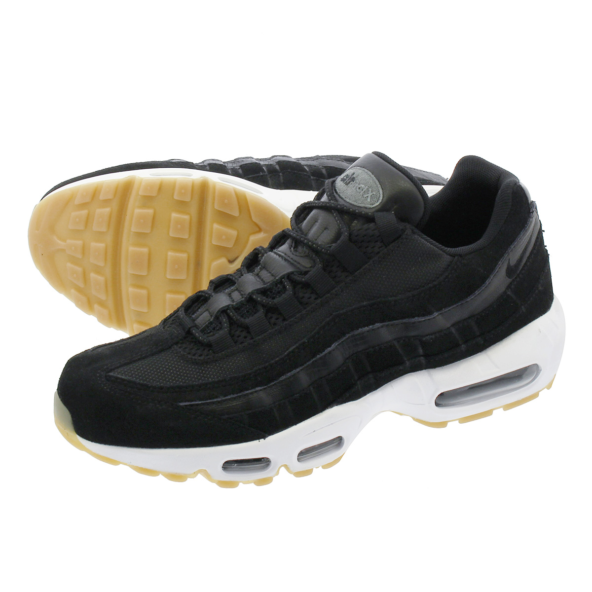 on sale b5eed 2eaef NIKE AIR MAX 95 PREMIUM Kie Ney AMAX 95 premium BLACK/DARK GREY/WHITE  538,416-016