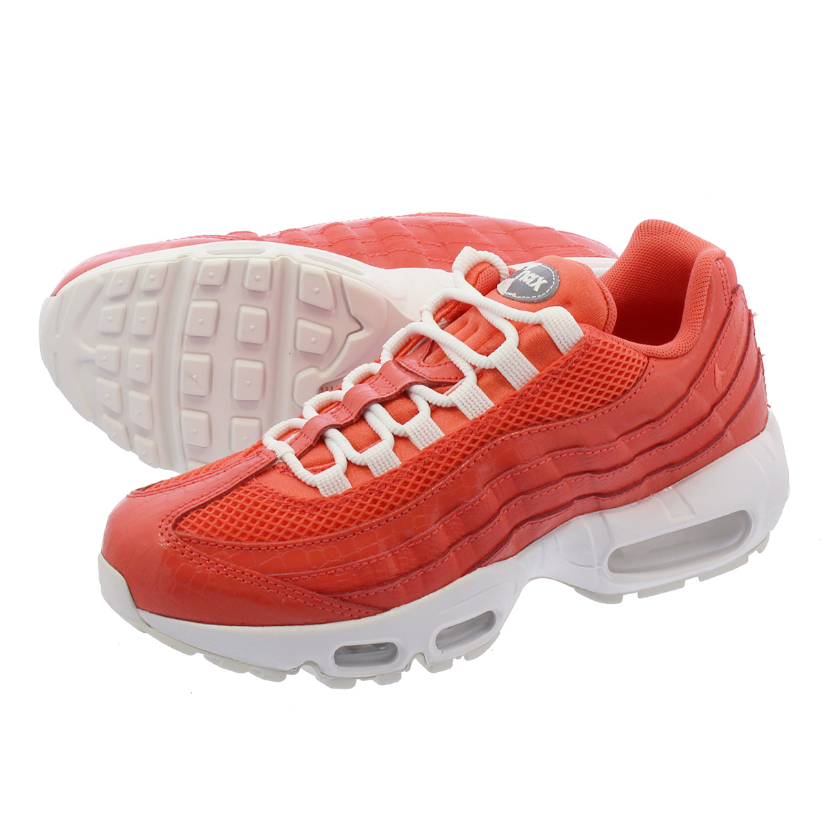 the latest 80800 c56d4 NIKE WMNS AIR MAX 95 PRM Nike women Air Max 95 premium SUMMIT WHITERUSH  CORAL 807,443-802