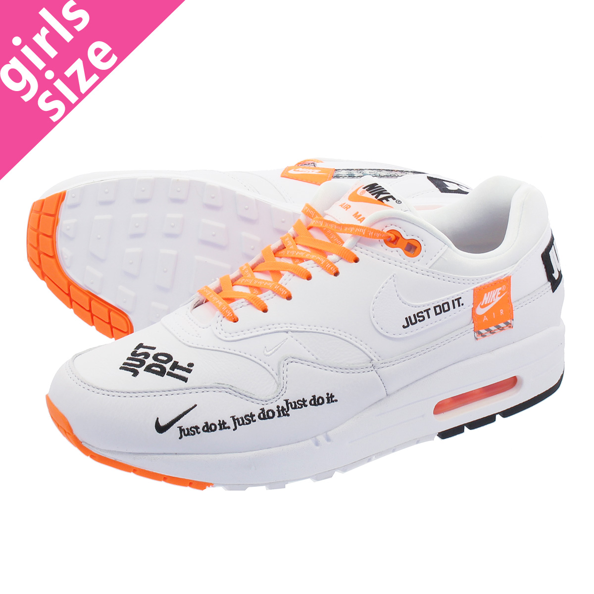 nike WMNS AIR MAX 1 LX WHITEBLACK TOTAL ORANGE bei