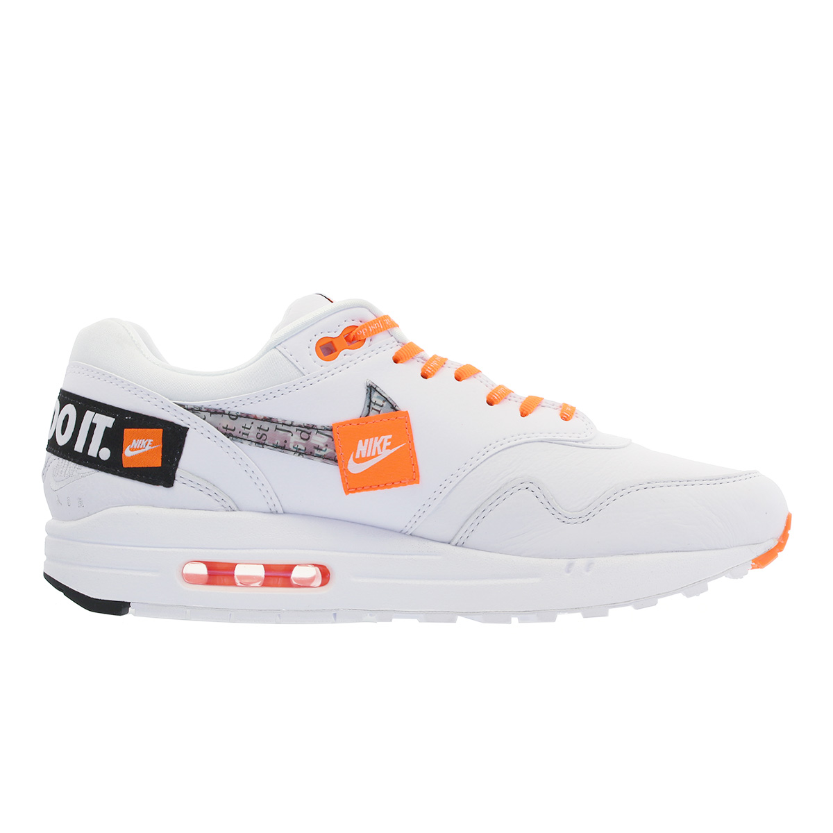 best sneakers 3b5c6 9e36f NIKE WMNS AIR MAX 1 LX Nike women Air Max 1 WHITE BLACK TOTAL ORANGE 917,691 -100