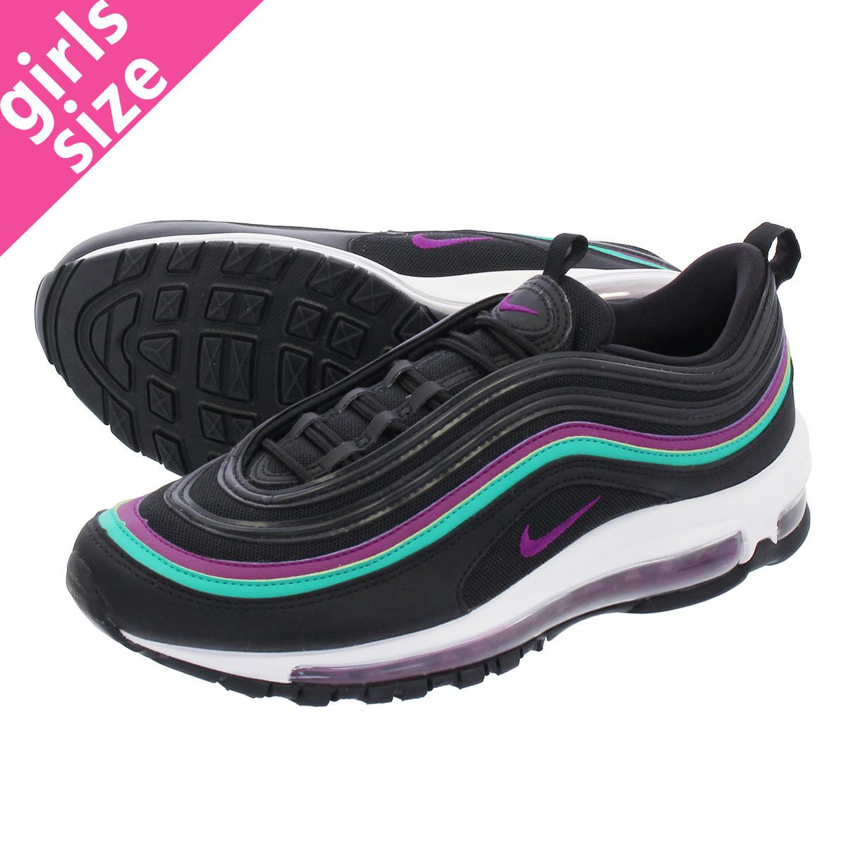 NIKE WMNS AIR MAX 97 Nike women Air Max 97 BLACKBRIGHT GRAPECLEAR EMERALD 921,733 008