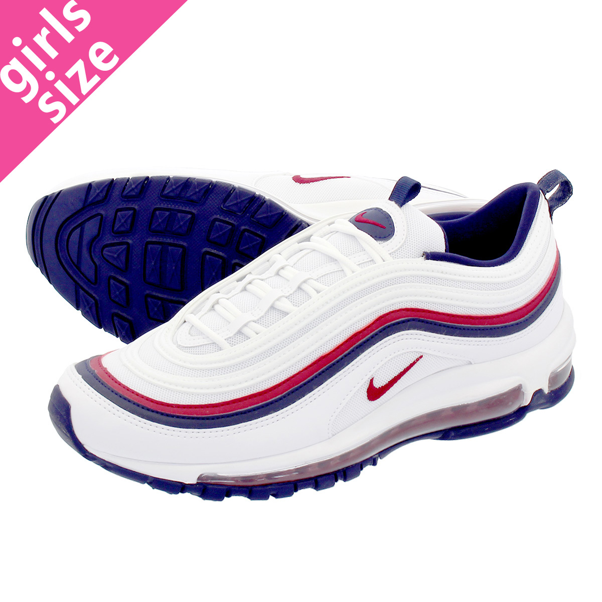 2f6ea451de NIKE WMNS AIR MAX 97 Nike women Air Max 97 WHITE/RED CRUSH/BLACKENED ...