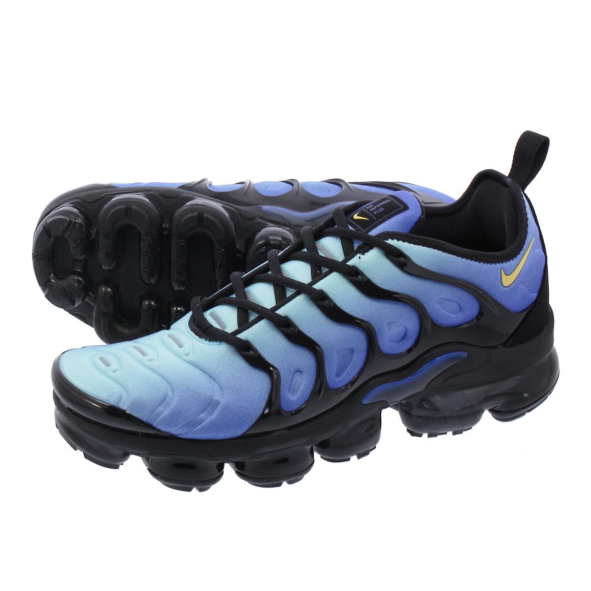 hot sale online d48ee 9b28f NIKE AIR VAPORMAX PLUS Nike vapor max plus BLACK/CHAMPOIS/HYPER BLUE  924,453-008