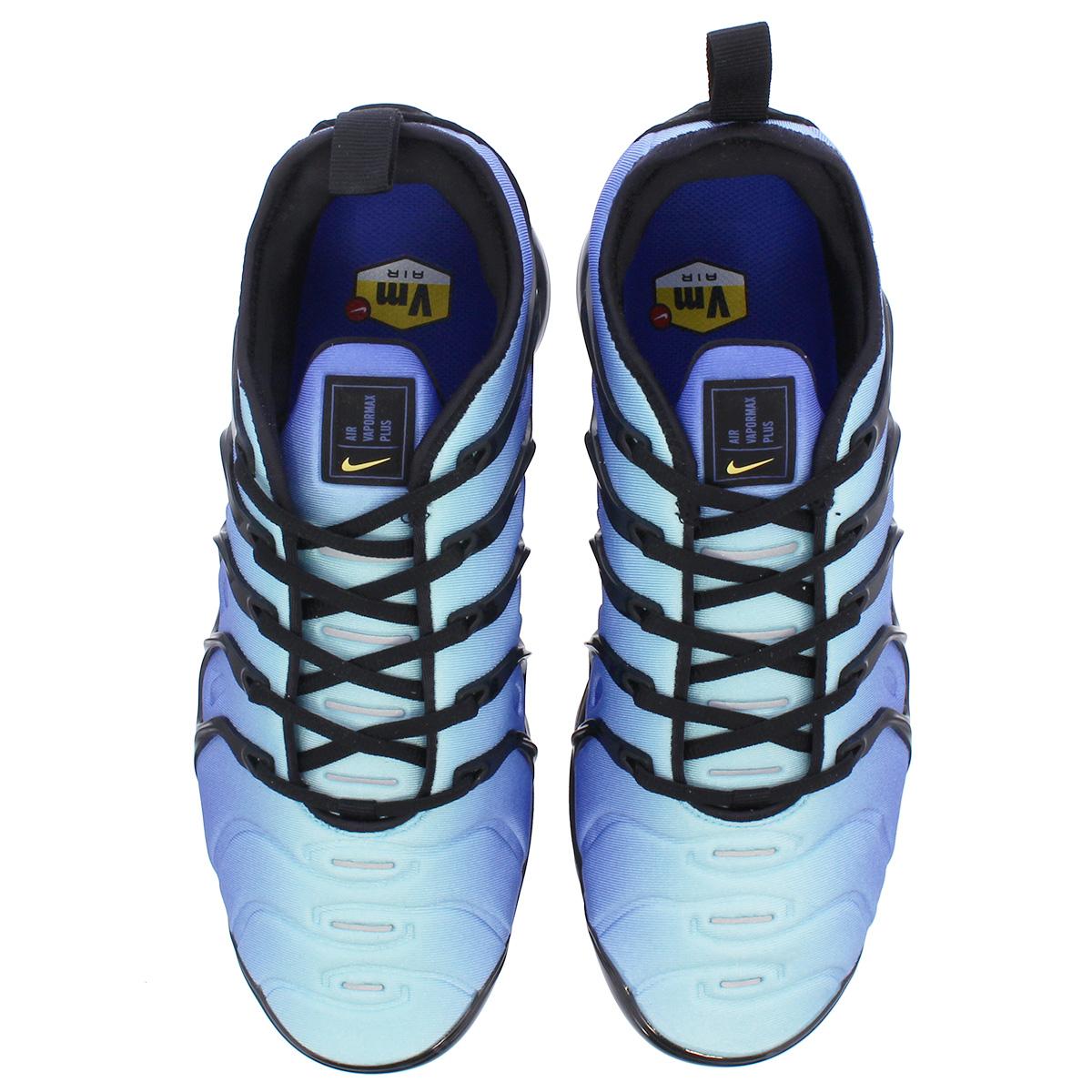 fffb90ded44a0 NIKE AIR VAPORMAX PLUS Nike vapor max plus BLACK CHAMPOIS HYPER BLUE  924