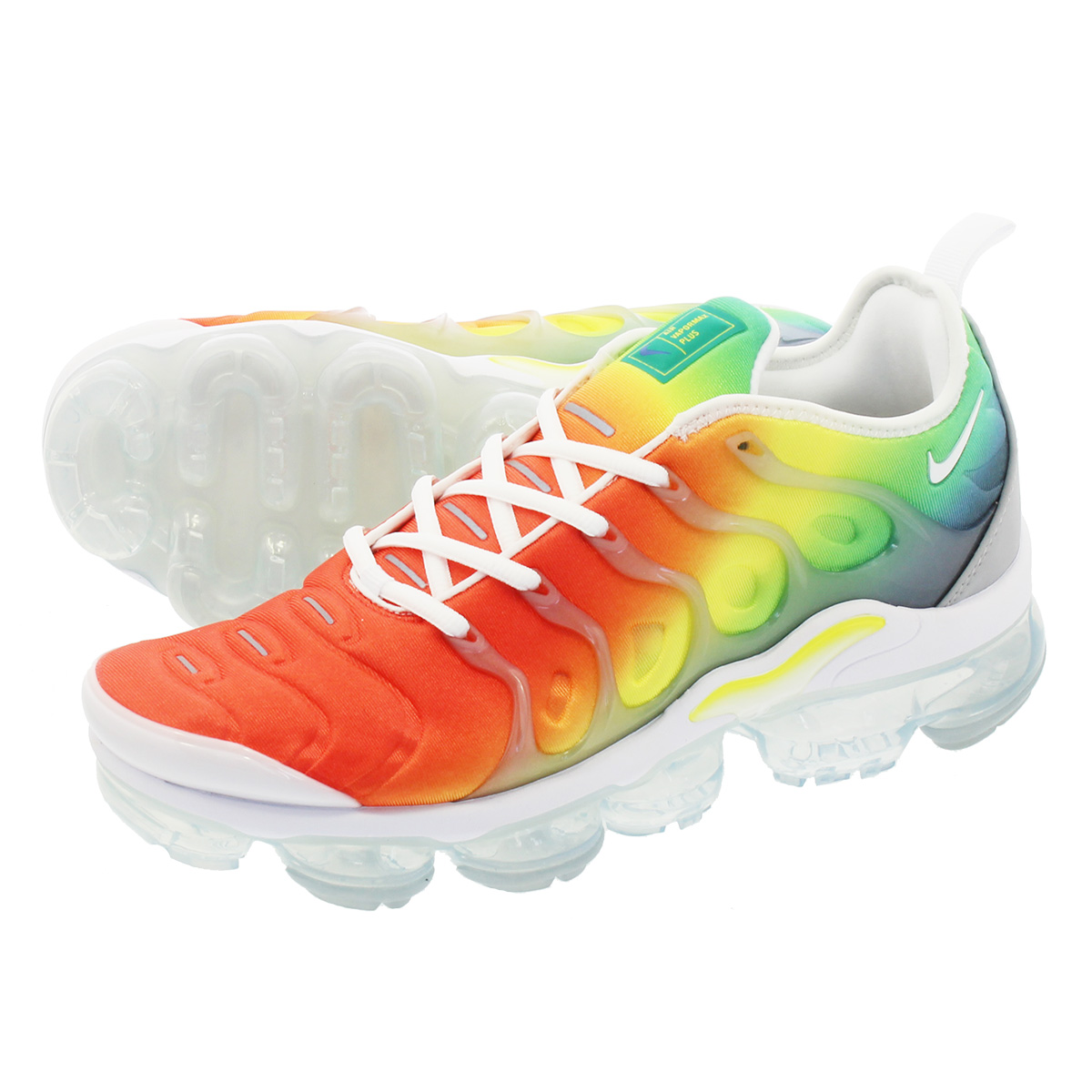 3e06ab581b049 NIKE AIR VAPORMAX PLUS Nike vapor max plus WHITE NEPTUNE GREEN DYNAMIC  YELLOW 924