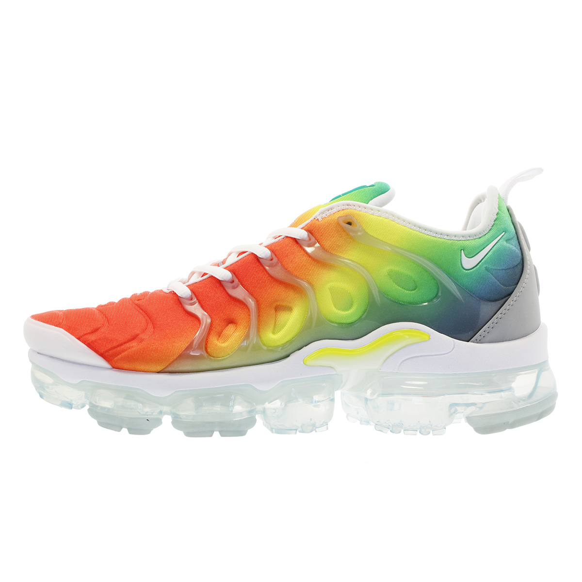 b04d116dcbc NIKE AIR VAPORMAX PLUS Nike vapor max plus WHITE NEPTUNE GREEN DYNAMIC  YELLOW 924