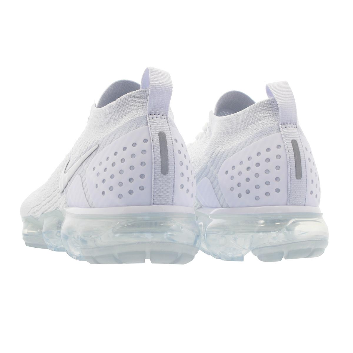 quality design c1b00 b7b4f NIKE AIR VAPORMAX FLYKNIT 2 Nike vapor max fried food knit 2 WHITE/VAST  GREY/FOOTBALL GREY 942,842-105