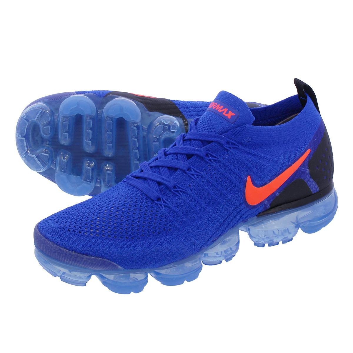 brand new f5246 500ee NIKE AIR VAPORMAX FLYKNIT 2 Nike vapor max fried food knit 2 RACER BLUE TOTAL  CRIMSON BLACK 942,842-400