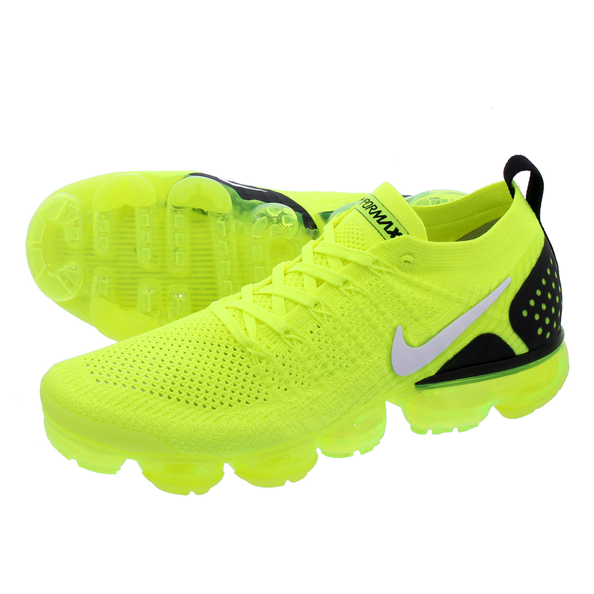 huge discount 0b739 3e1ca NIKE AIR VAPORMAX FLYKNIT 2 Nike vapor max fried food knit 2 VOLT/BLACK  942,842-700