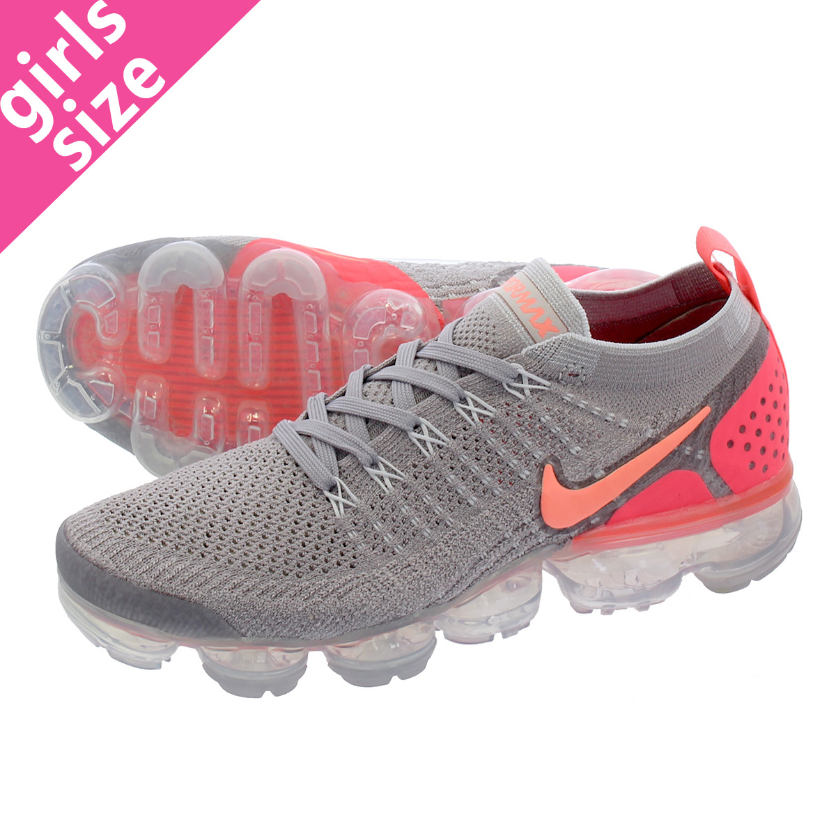 f86c9512b422 LOWTEX PLUS  NIKE WMNS AIR VAPORMAX FLYKNIT 2 Nike women vapor max fried  food knit ATMOSPHERE GREY CRIMSON PULSE 942