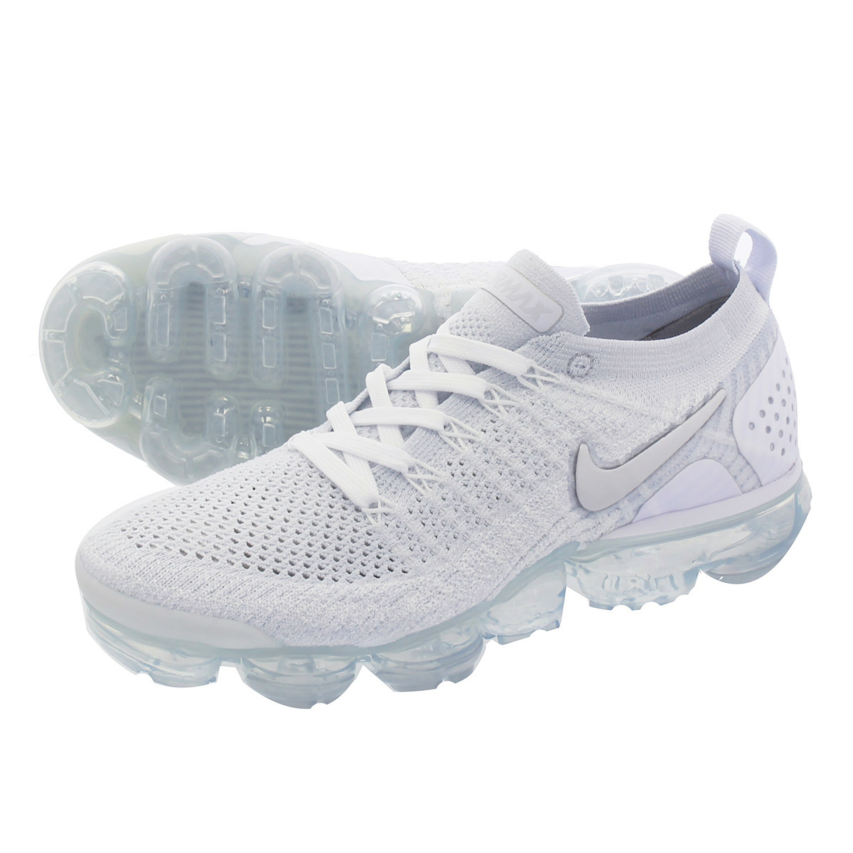 60da2722df38f NIKE WMNS AIR VAPORMAX FLYKNIT 2 Nike women vapor max fried food knit WHITE VAST  GREY FOOTBALL GREY 942