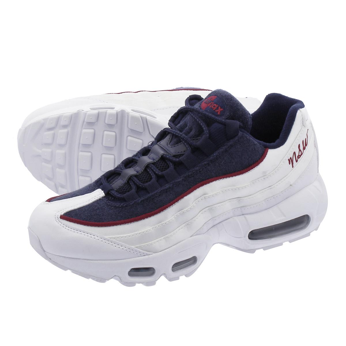 hot sale online d4927 aa018 NIKE WMNS AIR MAX 95 Nike women Air Max 95 LX WHITE/NAVY/BLACK aa1103-100