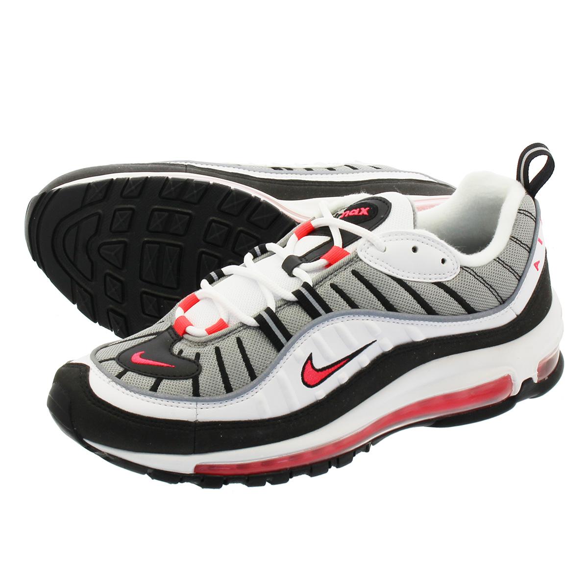 e4a9b2eab4 NIKE WMNS AIR MAX 98 Nike women Air Max 98 WHITE/SOLAR RED/DUST/REFLECT  SILVER ah6799-104
