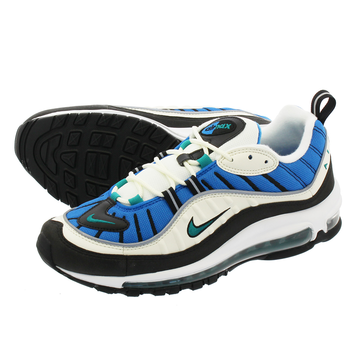 watch 4cefb bbf94 NIKE WMNS AIR MAX 98 Nike women Air Max 98 SAIL/RADIANT EMERALD/BLUE NEBULA  ah6799-106