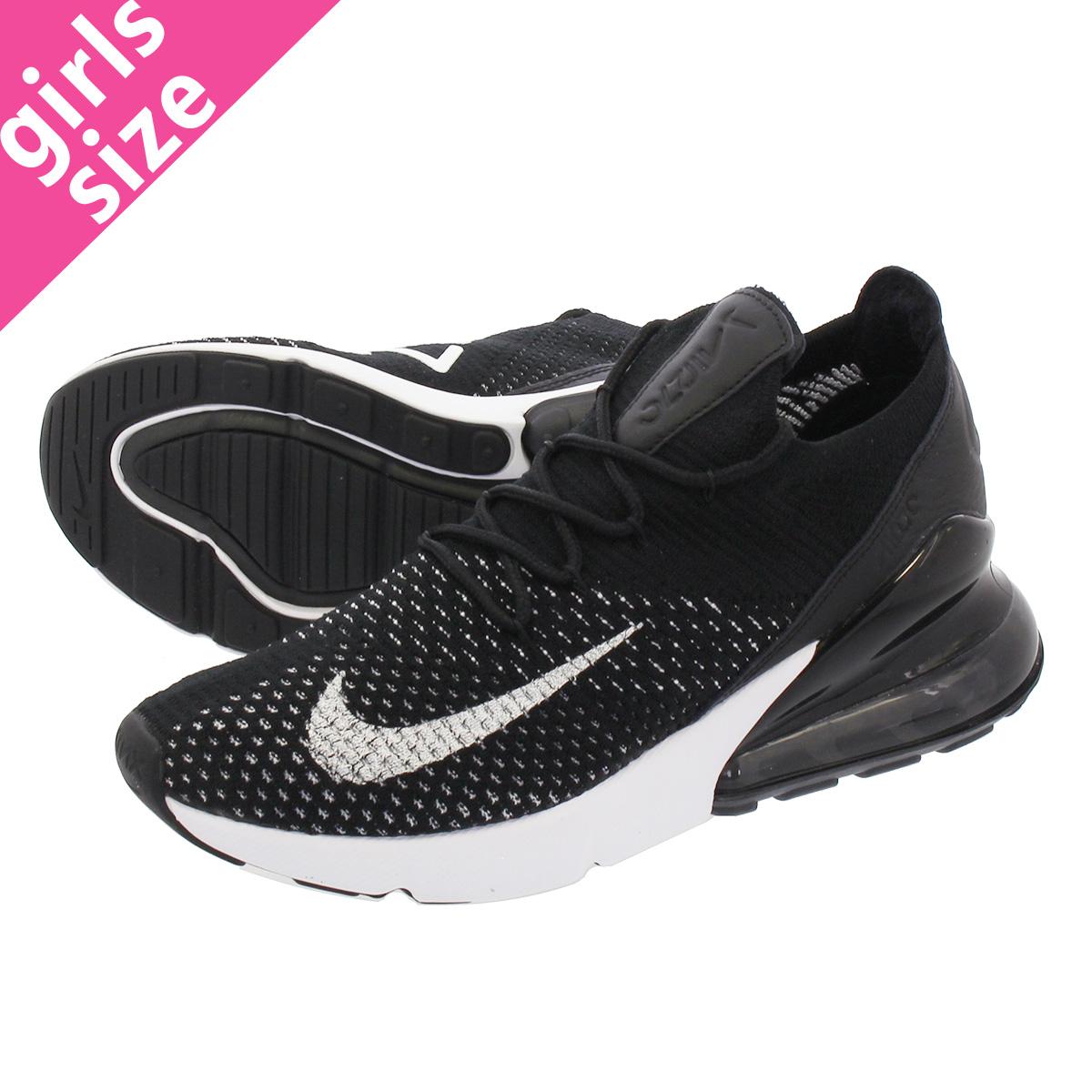 uk availability 4e1cd 2eb4d NIKE WMNS AIR MAX 270 FLYKNIT Nike women Air Max 270 fried food knit  BLACK/WHITE
