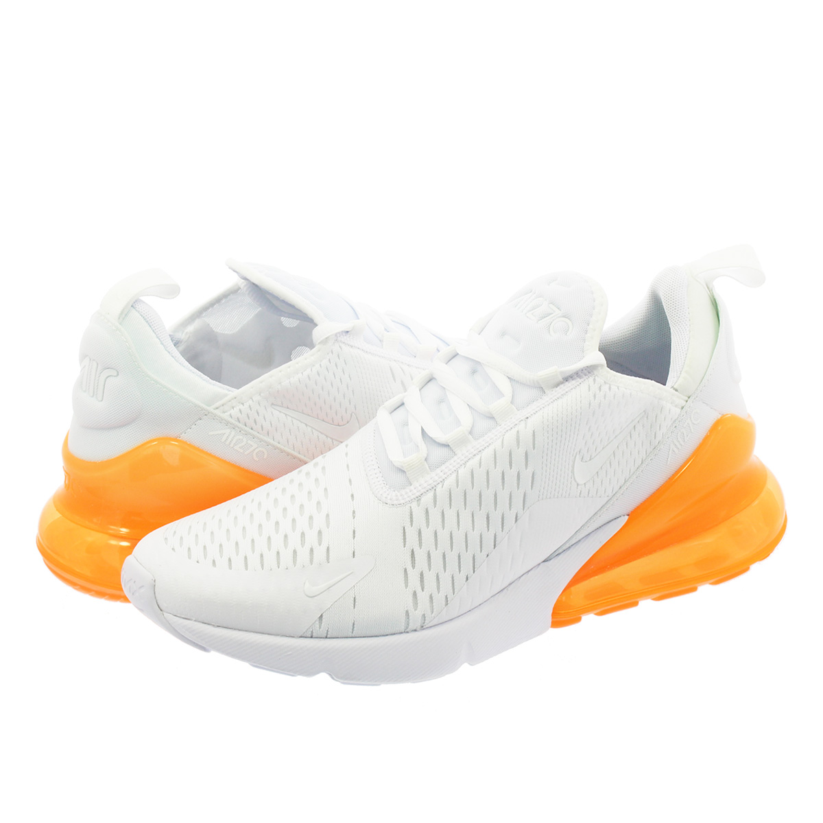 quality design 2134e 01ed0 NIKE AIR MAX 270 Kie Ney AMAX 270 WHITE TOTAL ORANGE ah8050-102