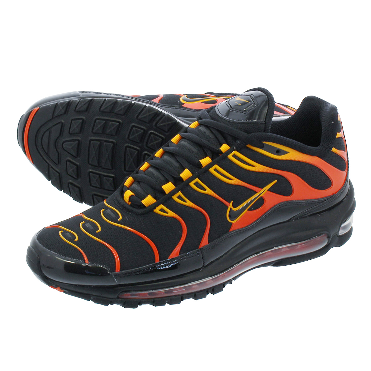 f409b47b56 LOWTEX PLUS: NIKE AIR MAX 97 PLUS Kie Ney AMAX 97 plus BLACK/ENGINE ...