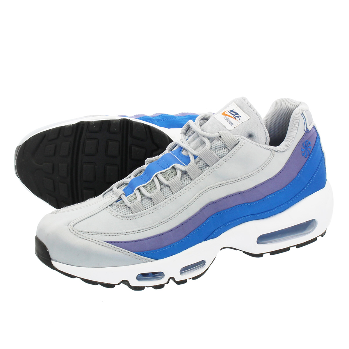 NIKE AIR MAX 95耐吉空氣最大95 WOLF GREY BLUE NEBULA PURPLE SLATE WHITE aj2018-001 339a61e7ab