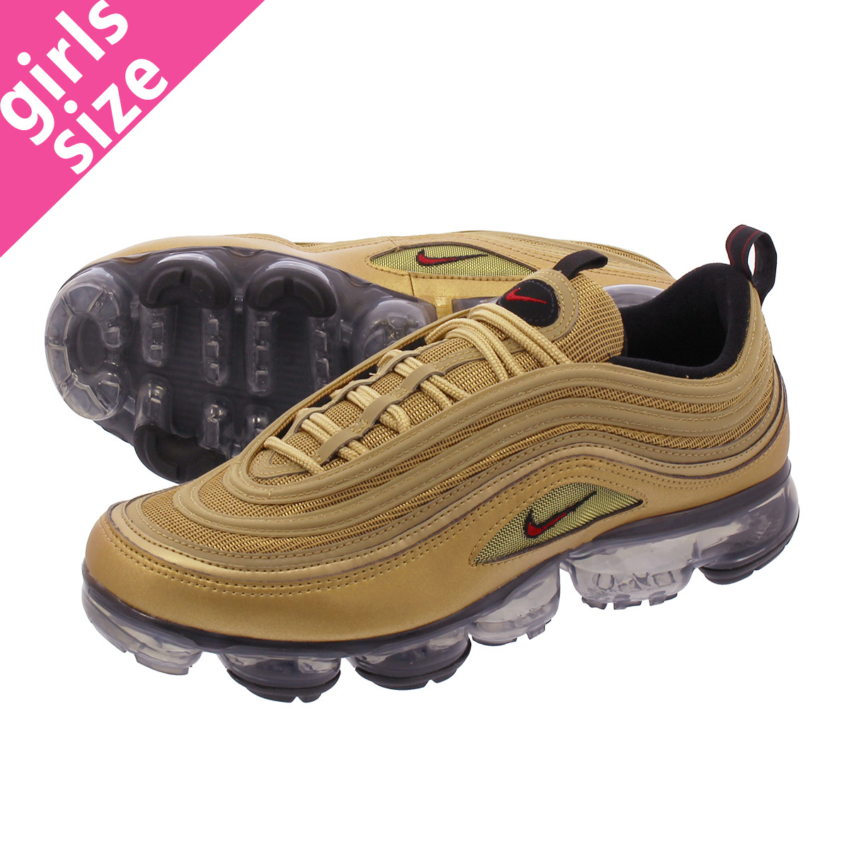 best service ad287 7be51 NIKE AIR VAPORMAX 97 Nike air vapor max 97 METALLIC GOLD/VARSITY  RED/BLACK/WHITE aj7291-700
