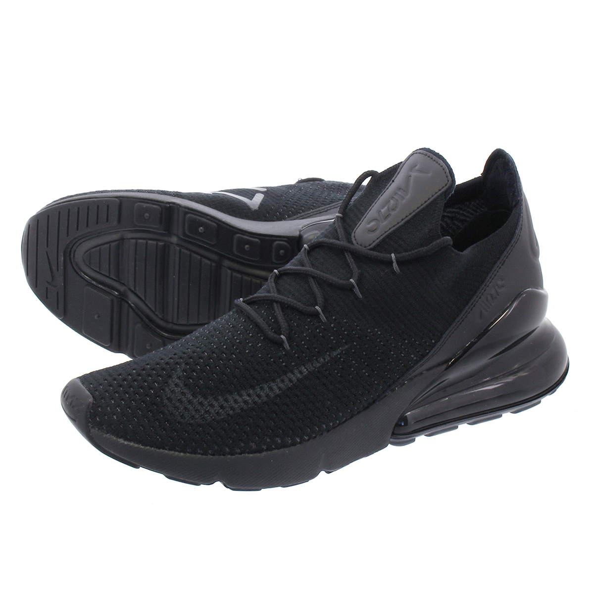 d473e4a2a49 LOWTEX PLUS  NIKE AIR MAX 270 FLYKNIT Kie Ney AMAX 270 fried food knit BLACK ANTHRACITE  ao1023-005