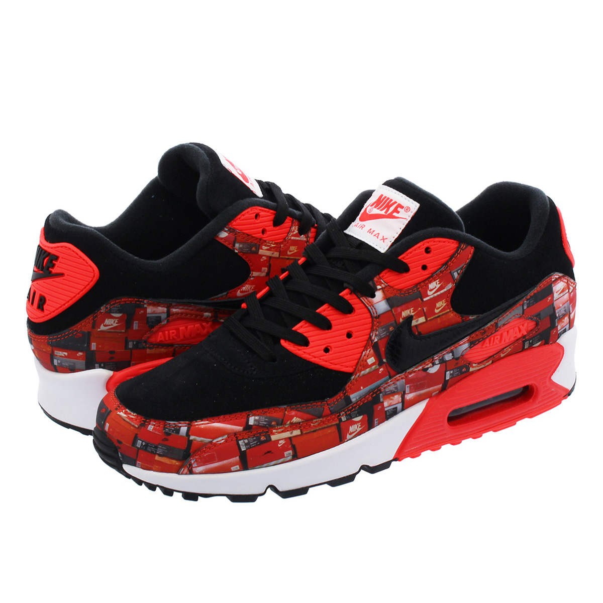 NIKE AIR MAX 90 PRINT Kie Ney AMAX 90 print BLACKBRIGHT CRIMSONWHITE