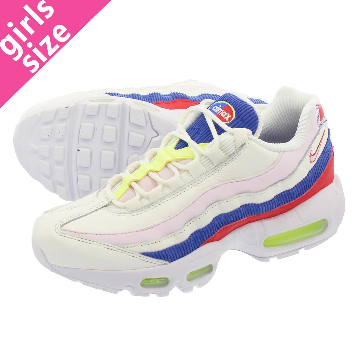 reputable site 45ff7 d1636 NIKE WMNS AIR MAX 95 SE Nike women Air Max 95 SE SAIL ARCTIC PINK RACER BLUE  aq4138-101