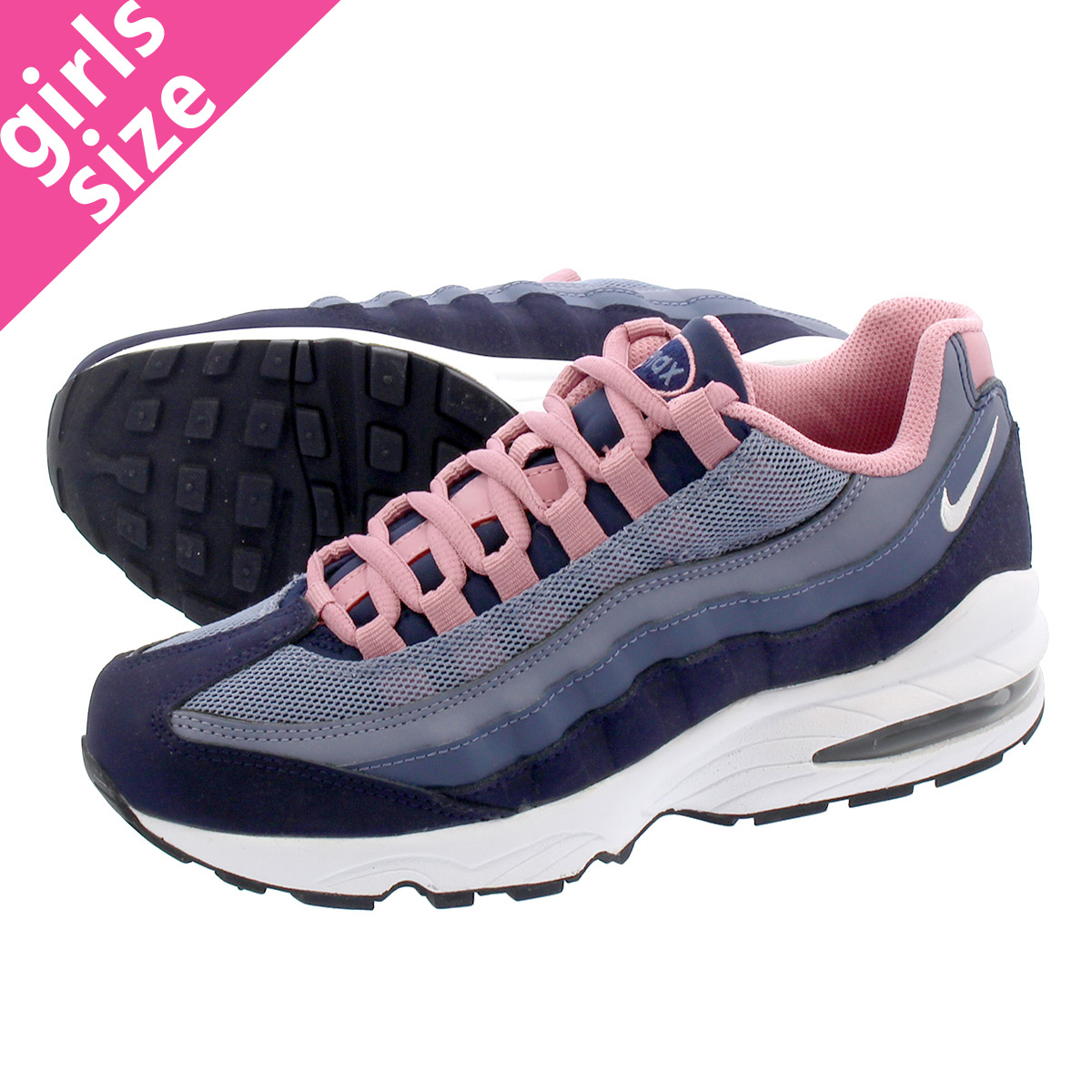 d54e066ff7 LOWTEX PLUS: NIKE AIR MAX 95 LE GS Kie Ney AMAX 95 leather GS  NAVY/BLUE/WHITE/PINK 310,830-402 | Rakuten Global Market
