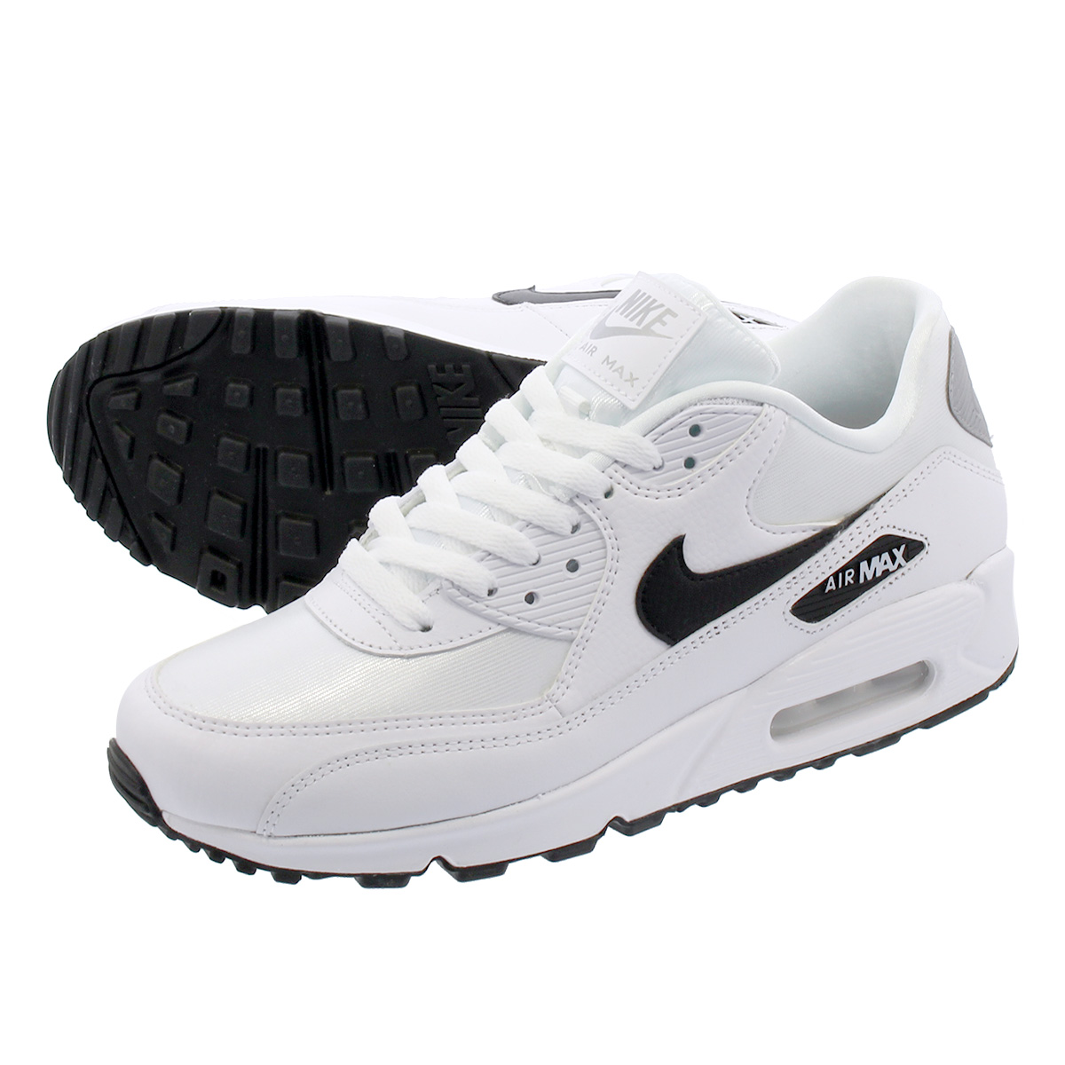 NIKE WMNS AIR MAX 90 Nike women Air Max 90 WHITEBLACKREFLECT SILVER 325,213 137