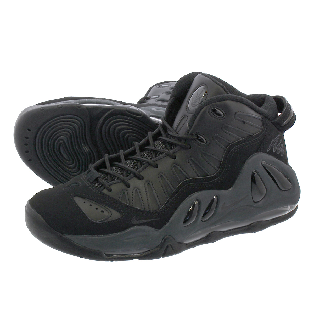 LOWTEX PLUS  NIKE AIR MAX UPTEMPO 97 Kie Ney AMAX up tempo 97 BLACK BLACK  ANTHRAICTE BLACK 399 c4d578f1e
