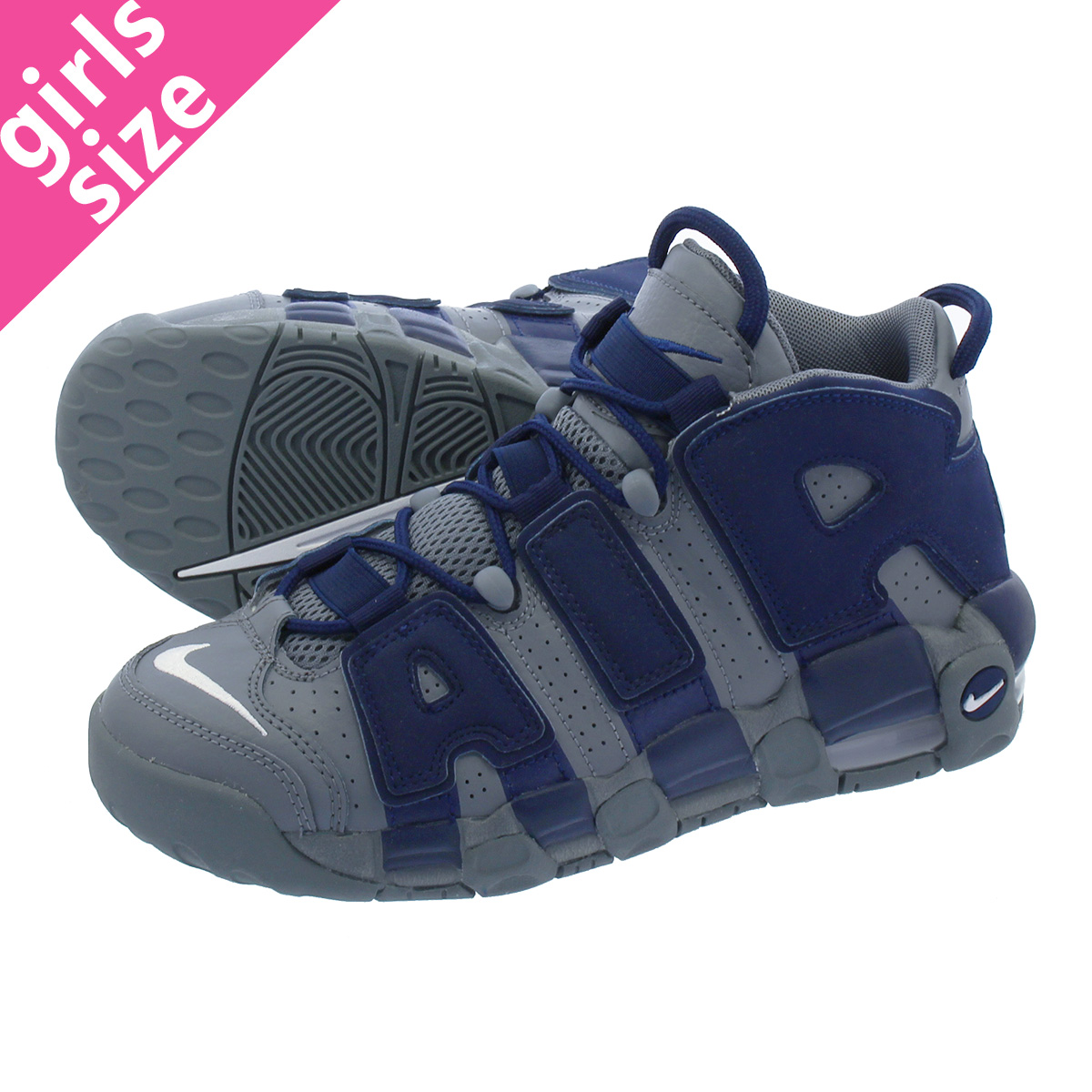特価商品  【大人気の女の子サイズ♪】 NIKE AIR MORE UPTEMPO UPTEMPO GS ナイキ アップ 415082-009 モア アップ テンポ GS COOL GREY/MIDNIGHT NAVY 415082-009, rayon:765f171f --- supercanaltv.zonalivresh.dominiotemporario.com