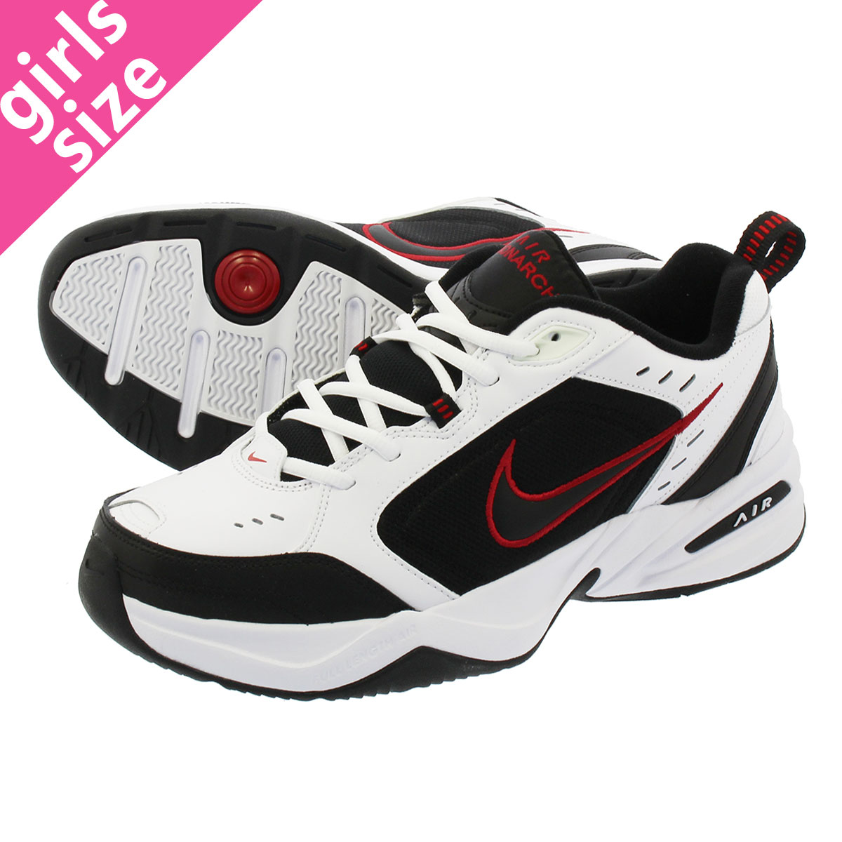 newest collection d767a 4b8eb NIKE AIR MONARCH IV ナイキエアモナーク 4 WHITE BLACK 415,445-101 ...