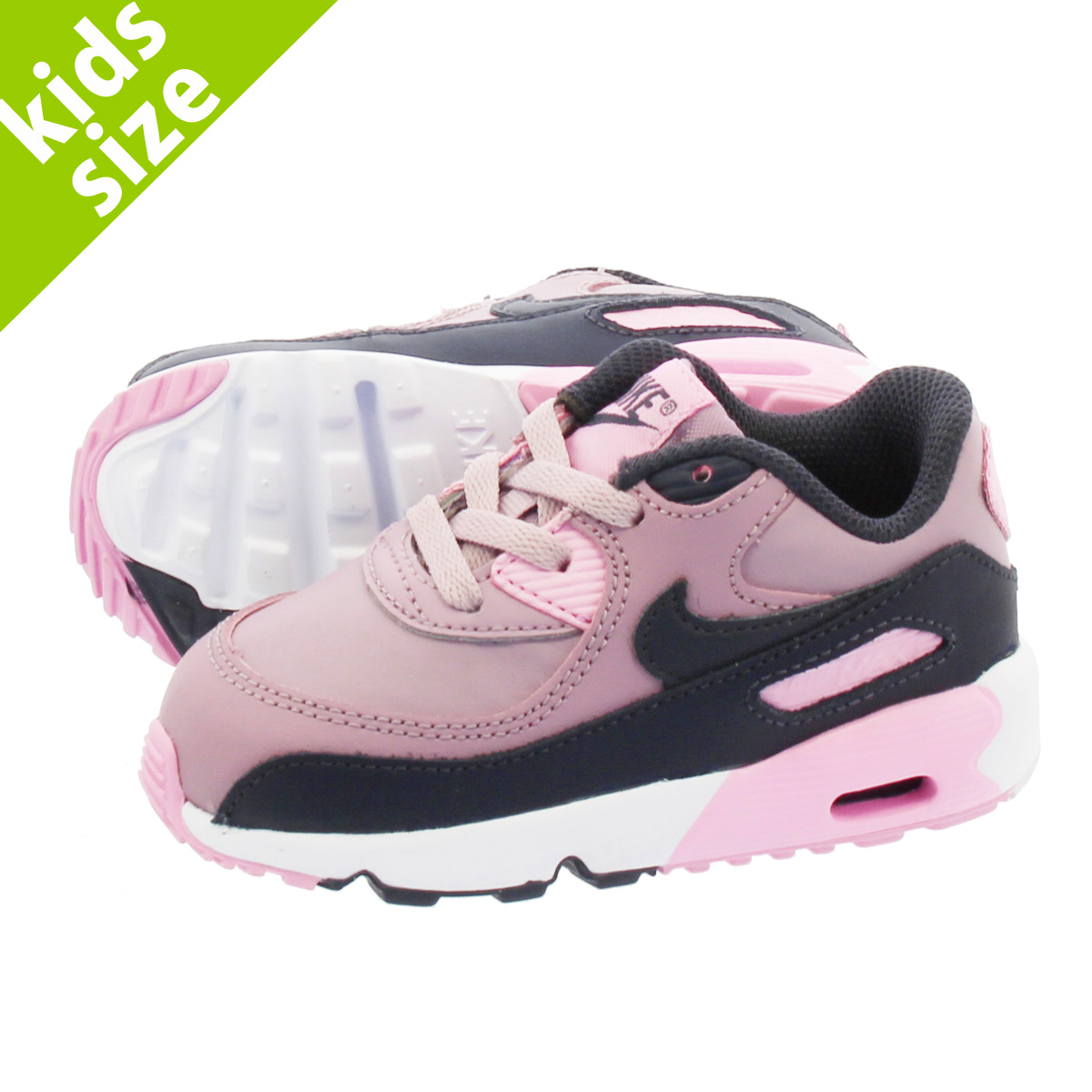 6d262782a7082 NIKE AIR MAX 90 LTR TD Kie Ney AMAX 90 leather TD ELEMENTAL  ROSE/GRIDIRON/PINK/WHITE 833,379-602