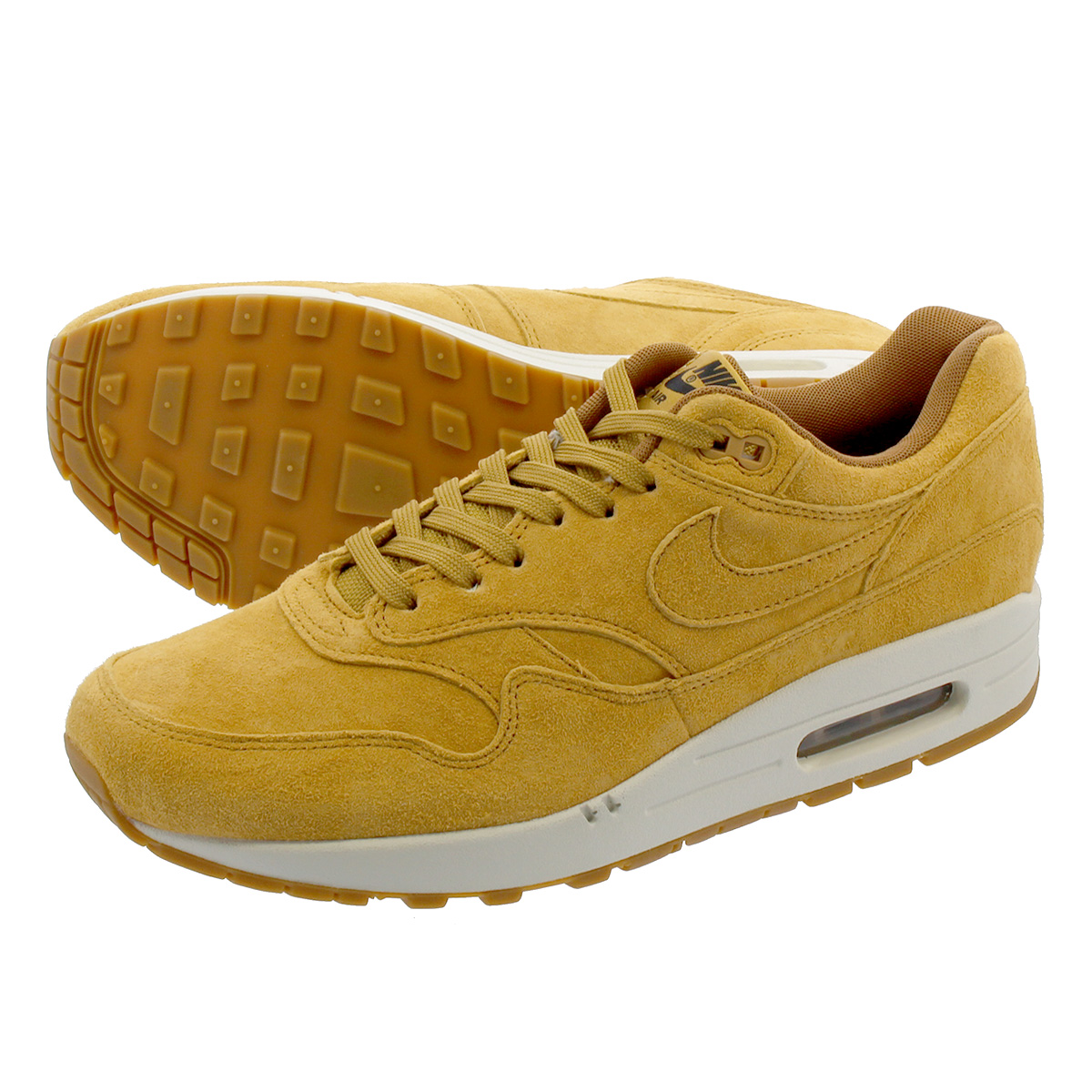 NIKE AIR MAX 1 PREMIUM 【WHEAT】 ナイキ エア マックス 1 プレミアム FLAX/FLAX/SAIL/GUM MED BROWN 875844-701
