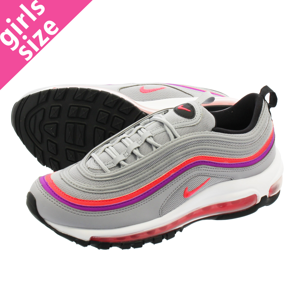 7bc1c03764 LOWTEX PLUS: NIKE WMNS AIR MAX 97 Nike women Air Max 97 WOLF GREY/VIVID  PURPLE/BLACK/SOLAR RED 921,733-009 | Rakuten Global Market