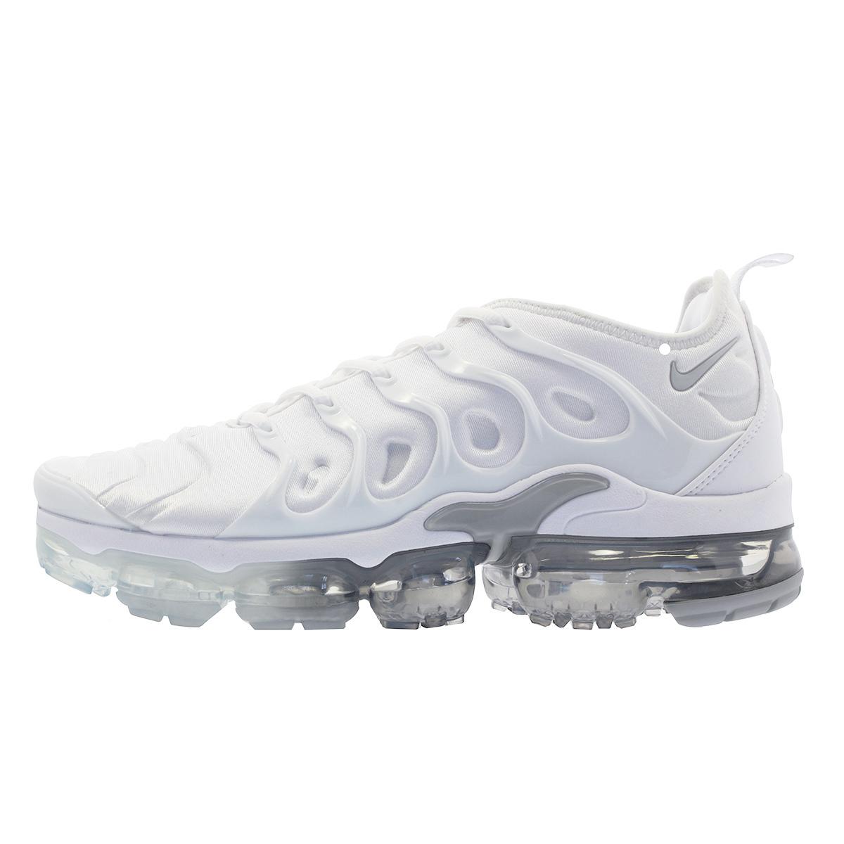 huge discount 41464 22deb NIKE AIR VAPORMAX PLUS Nike vapor max plus WHITE PURE PLATINUM WOLF GREY  924,453-102