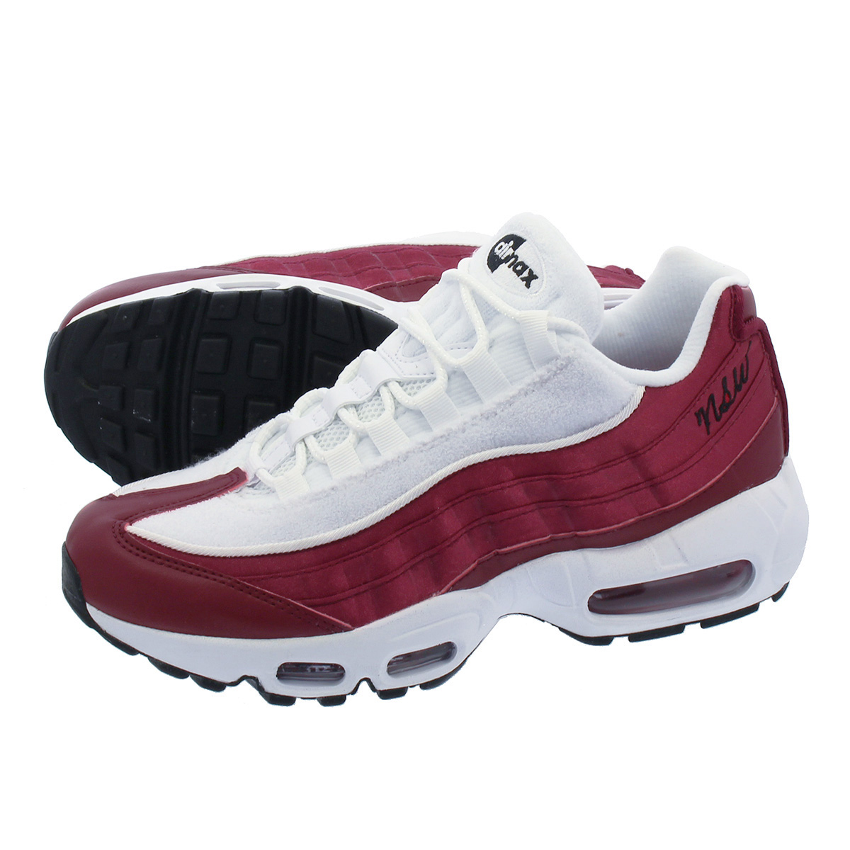 lowest price outlet for sale innovative design NIKE WMNS AIR MAX 95 Nike women Air Max 95 LX WHITE/BURGUNDY aa1103-601
