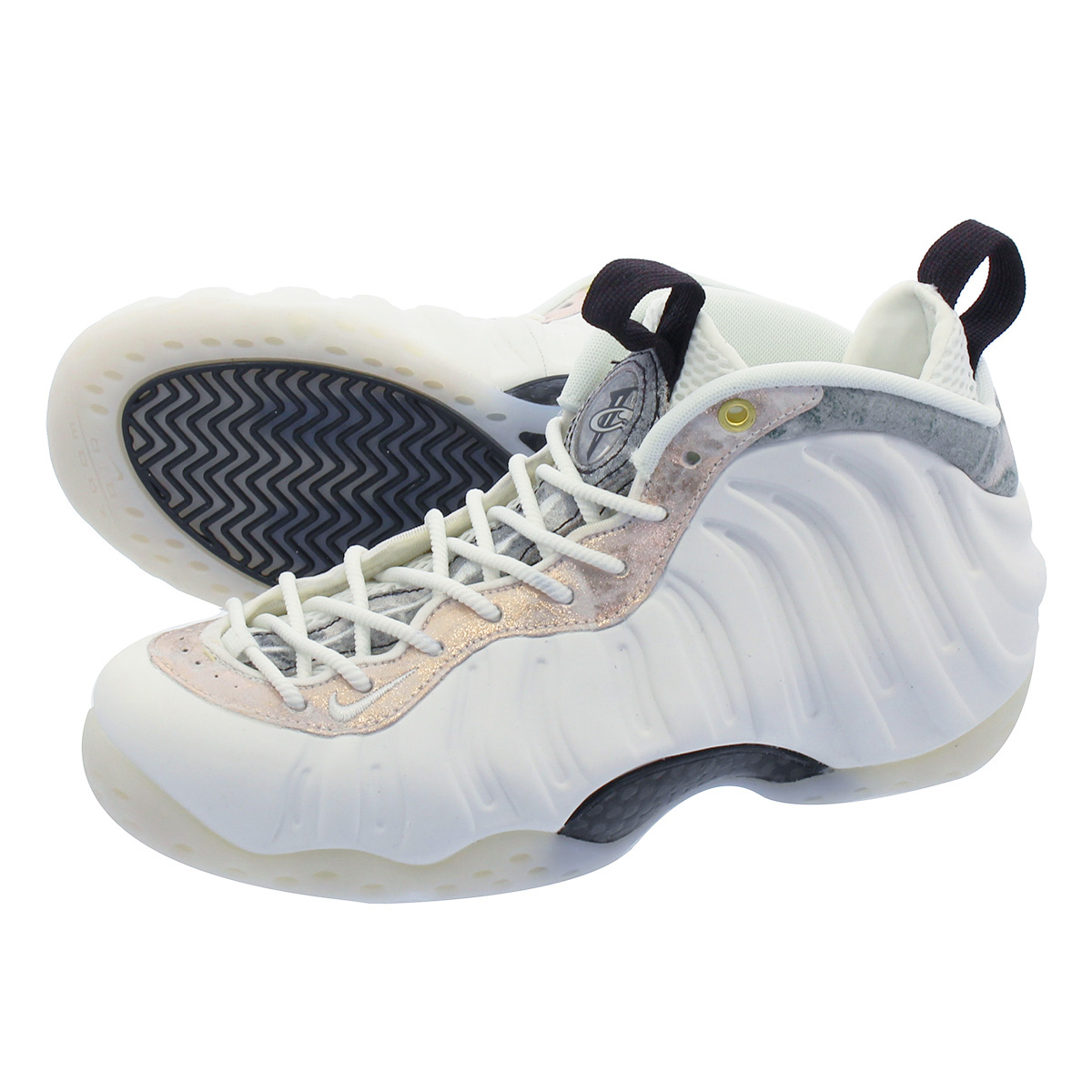 NIKE WMNS AIR FOAMPOSITE ONE ナイキ ウィメンズ フォームポジット ワン WHITE/SUMMIT WHITE/OIL GREY aa3963-101