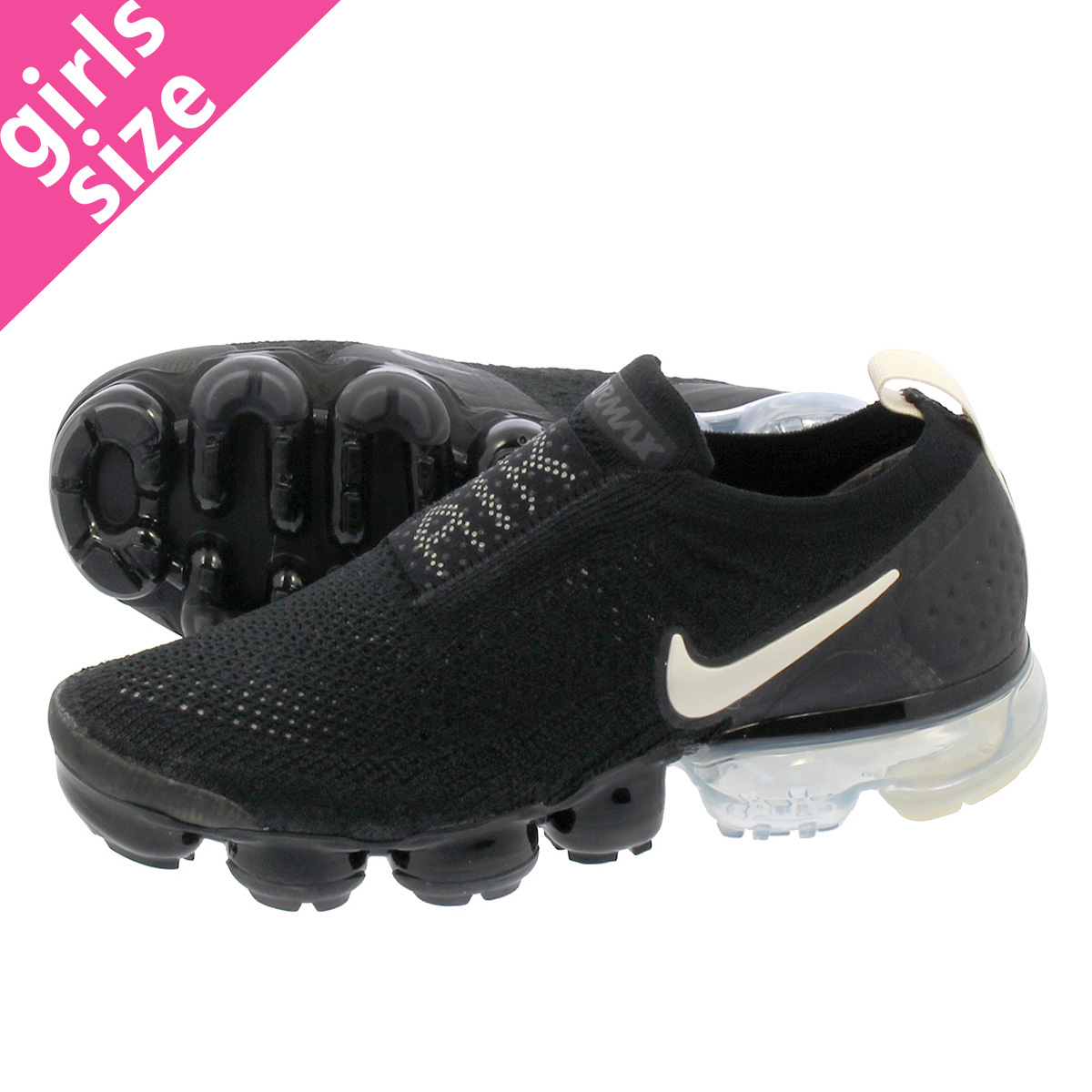 a394bec98fe0 NIKE WMNS AIR VAPORMAX FK MOC 2 Nike women air vapor max mock 2 BLACK LIGHT  CREAM WHITE THUNDER GREY aj6599-002