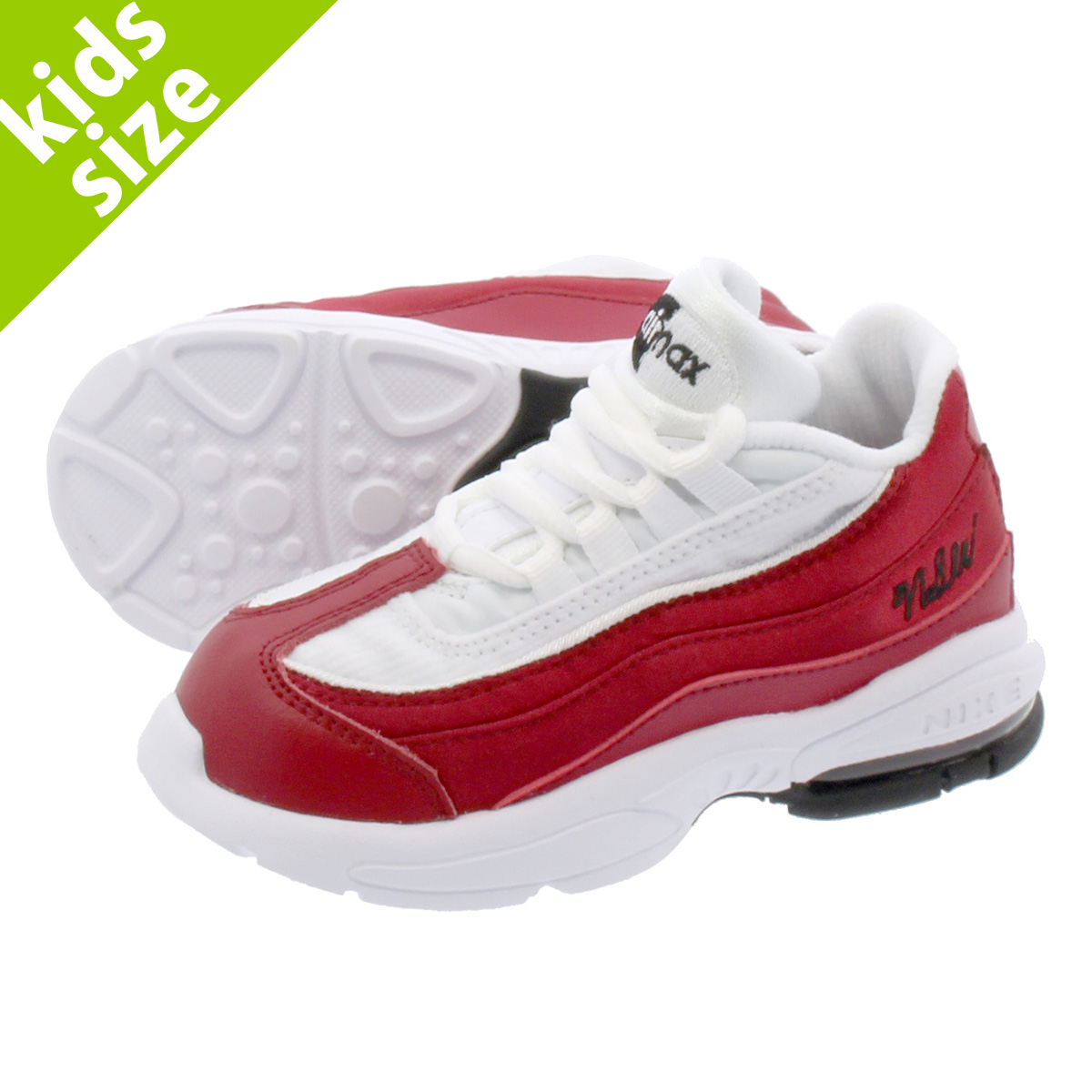 NIKE AIR MAX 95 TD SE Kie Ney AMAX 95 TD SE RED CRUSH WHITE BLACK ao9212-600 a16962793