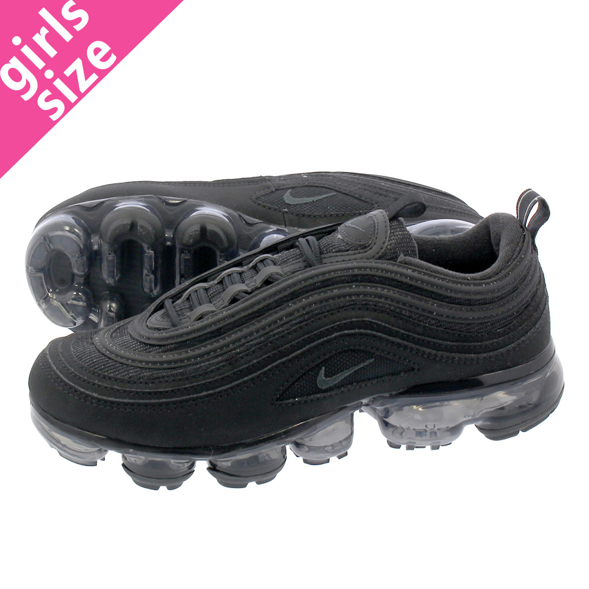 7339ca0ae6b LOWTEX PLUS  NIKE AIR VAPORMAX 97 GS Nike air vapor max 97 GS BLACK ...