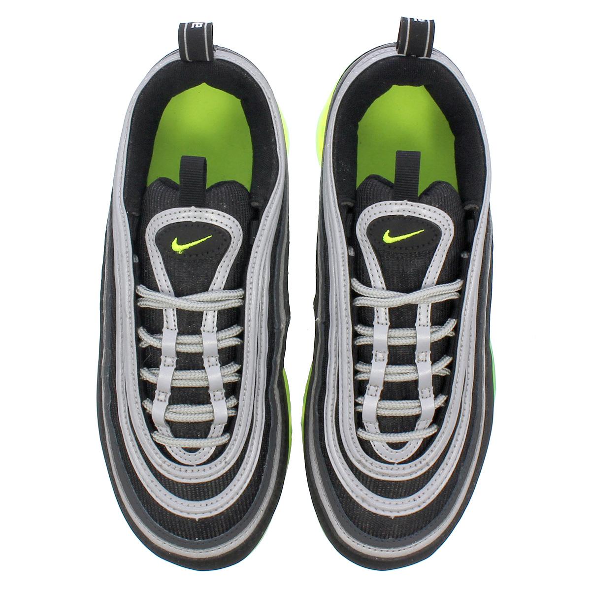 new arrival 8a0fe b3199 NIKE AIR VAPORMAX 97 GS Nike air vapor max 97 GS BLACK/VOLT/METALLIC  SILVER/WHITE aq2657-002