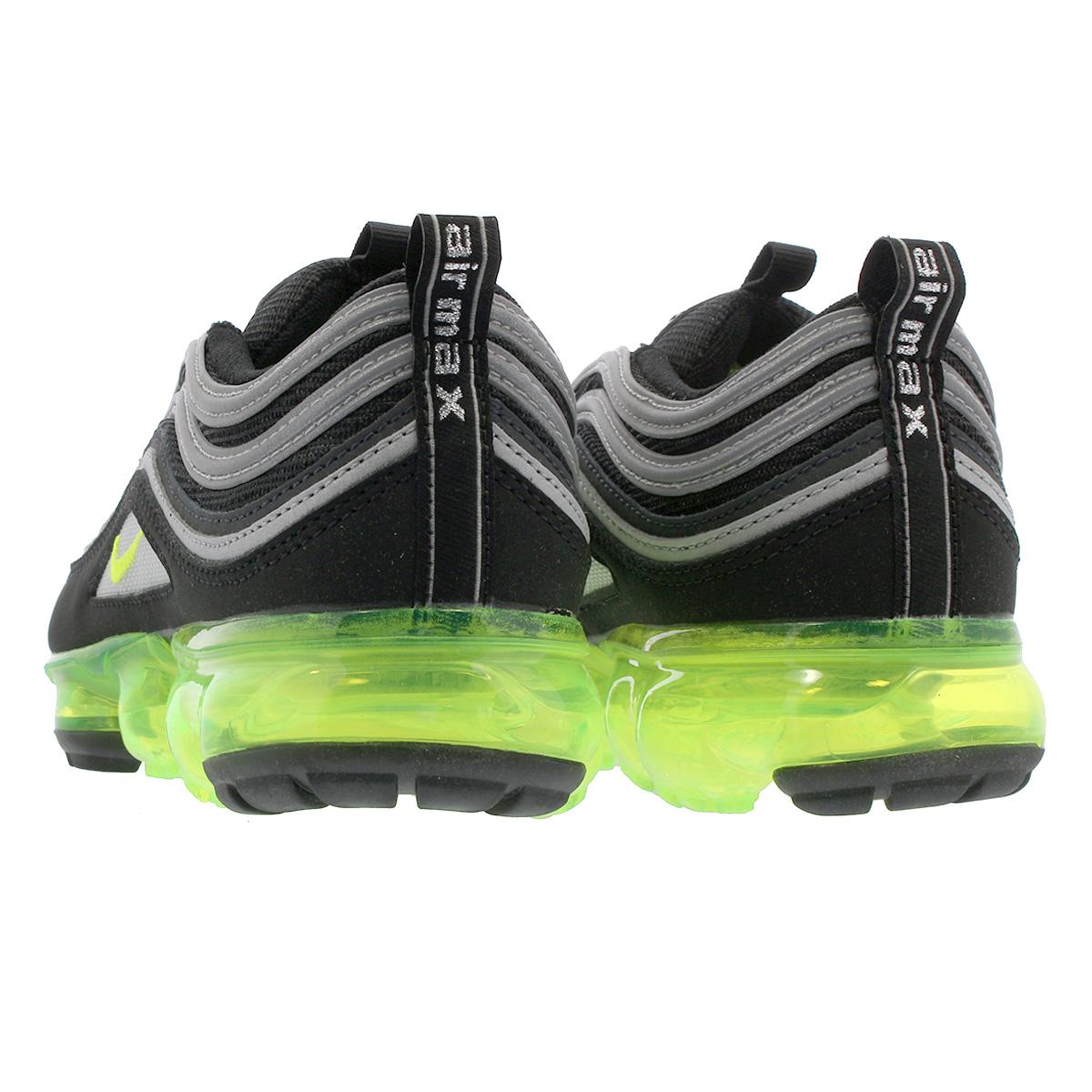 new arrival 24916 bb5d0 NIKE AIR VAPORMAX 97 GS Nike air vapor max 97 GS BLACK/VOLT/METALLIC  SILVER/WHITE aq2657-002