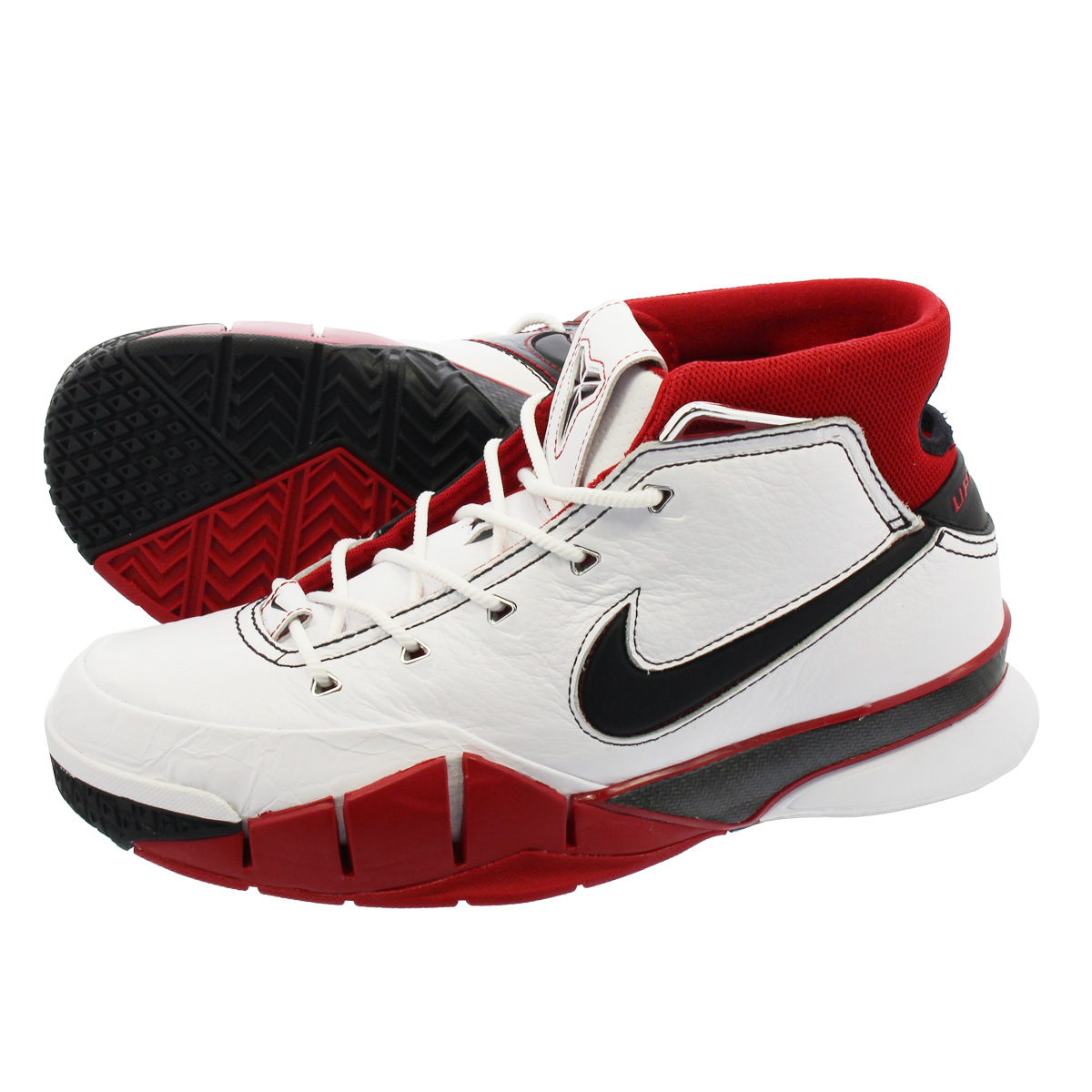 9e7ca84dee6 NIKE ZOOM KOBE 1 PROTRO Nike zoom Corby 1 professional fatty tuna WHITE  BLACK VARSITY RED aq2728-102