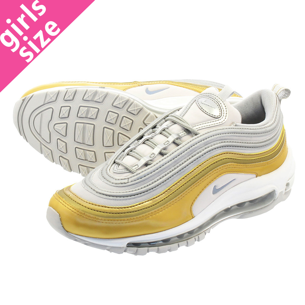 5b2d7262f9934 NIKE WMNS AIR MAX 97 SE Nike women Air Max 97 SE VAST GREY/METALLIC ...