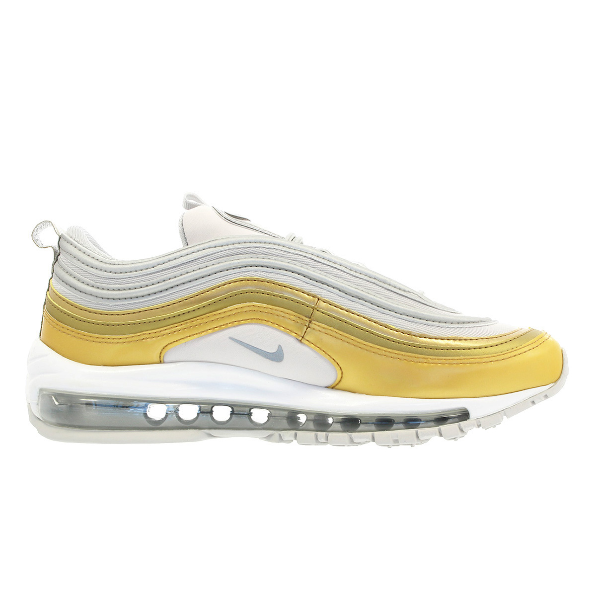 NIKE WMNS AIR MAX 97 SE Nike women Air Max 97 SE VAST GREYMETALLIC SILVERMETALLIC GOLD aq4137 001
