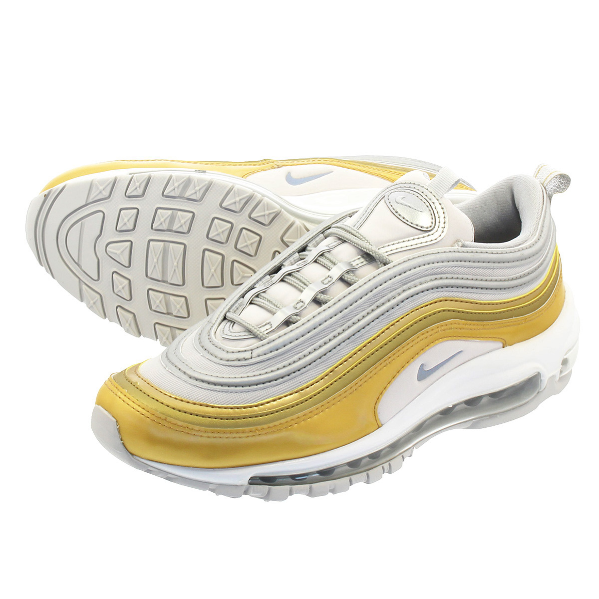NIKE WMNS AIR MAX 97 SE ナイキ ウィメンズ エア マックス 97 SE VAST GREY/METALLIC SILVER/METALLIC GOLD aq4137-001