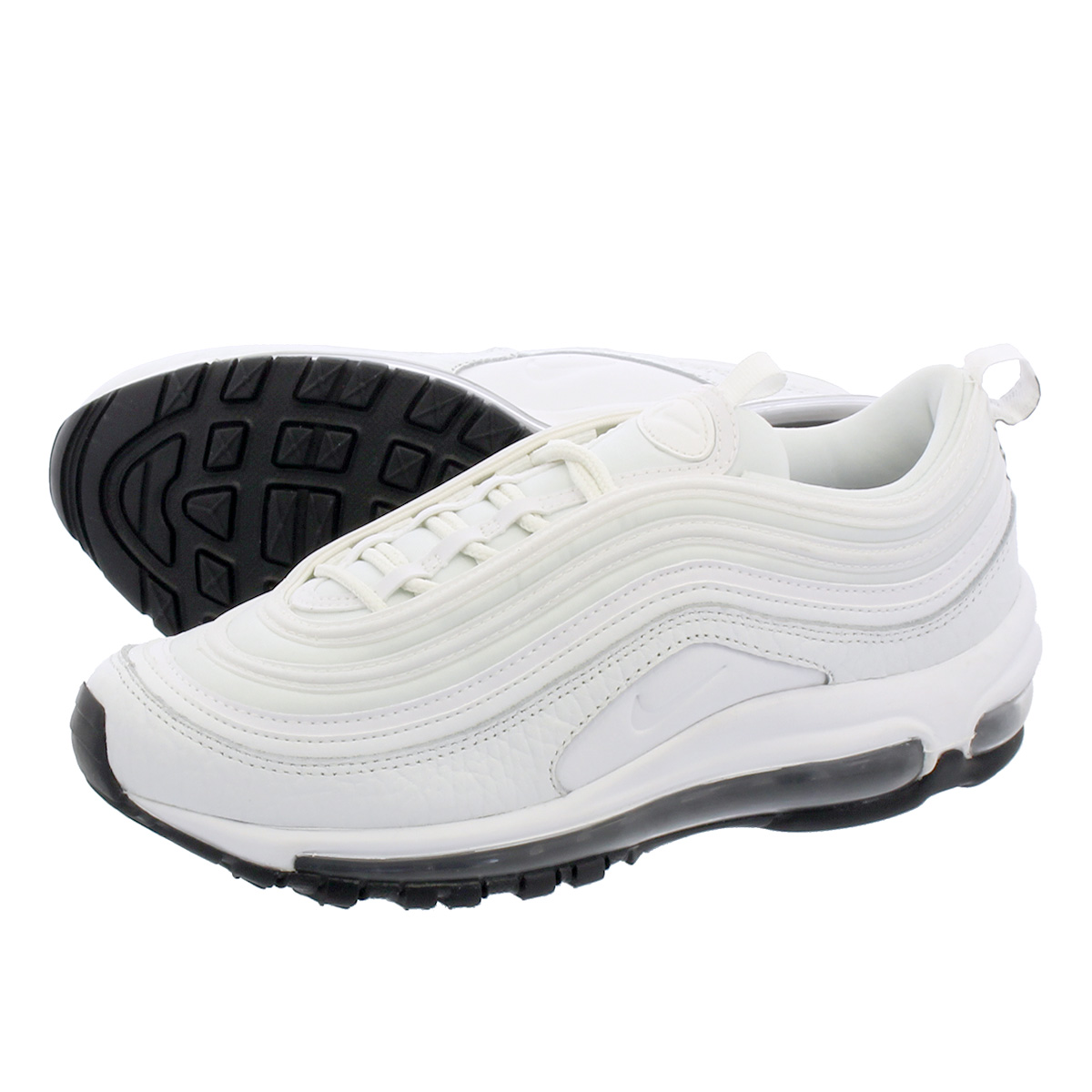 d4916eff7c NIKE WMNS AIR MAX 97 LEATHER Nike women Air Max 97 leather SUMMIT WHITE/SUMMIT  ...