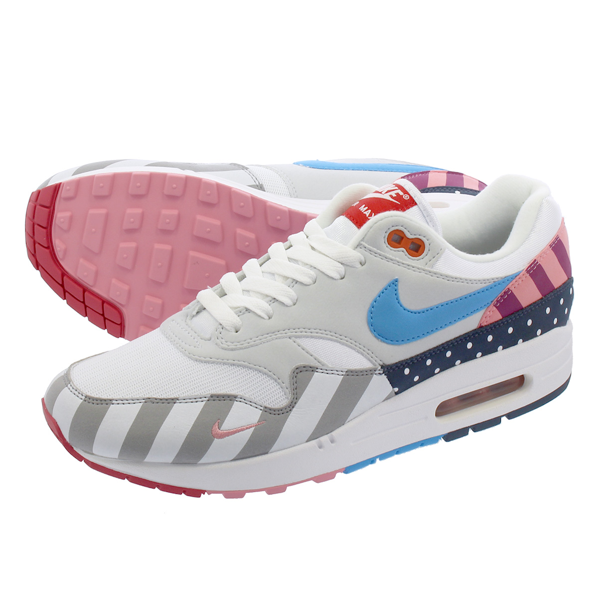 NIKE AIR MAX 1 Kie Ney AMAX 1 WHITEPURE PLATINUMMULTI COLOR at3057 100