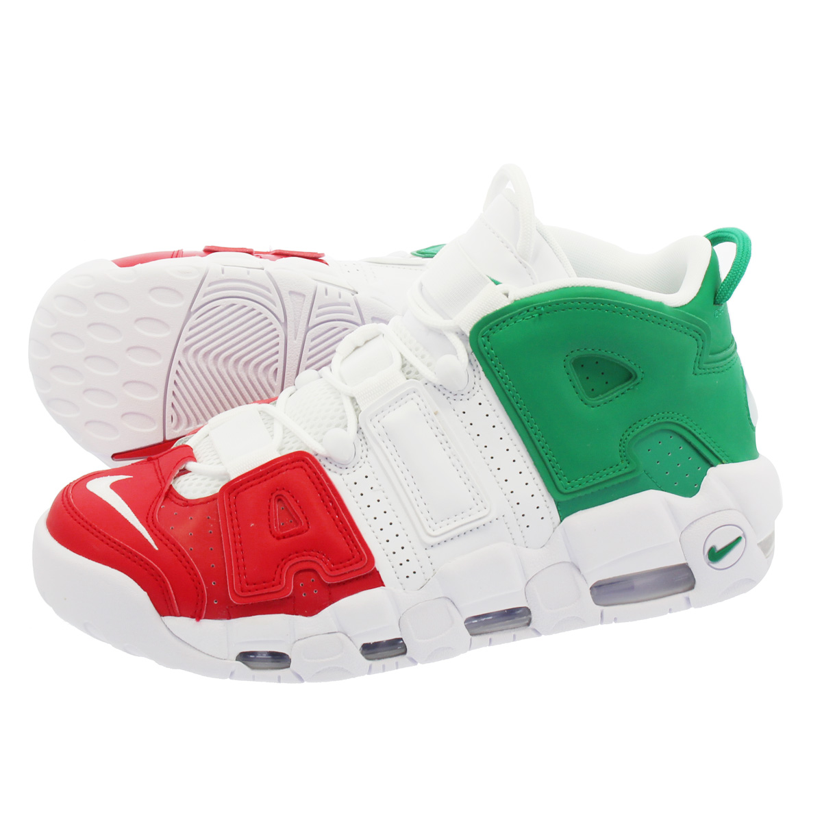 new style 369e9 8b756 NIKE AIR MORE UPTEMPO 96 ITALY QS Nike more up tempo 96 Italian QS  UNIVERSITY RED WHITE LUCID GREEN av3811-600